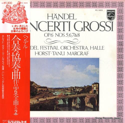 MARGRAF, HORST-TANU handel; concerti grossi op.6 nos.5, 6, 7 & 8 PC-1825 - front cover