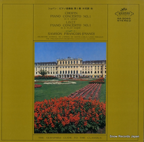 FRANCOIS, SAMSON chopin / liszt; piano concerto no.1 AA.5045 - front cover