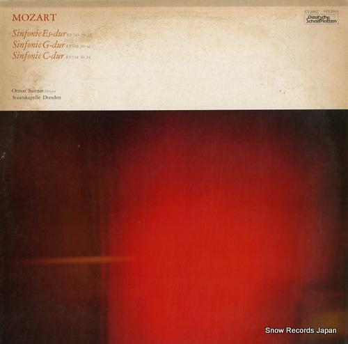 SUITNER, OTMAR mozart; sinfonie nr.39 & 32 & 34 ET-1002 - front cover