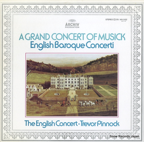 PINNOCK, TREVOR a grand concert of musick MA5152 - front cover
