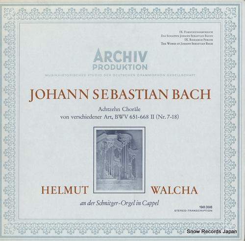 WALCHA, HELMUT bach; achtzehn chorale von verschiedener art, bwv651-668 ii 198398 - front cover