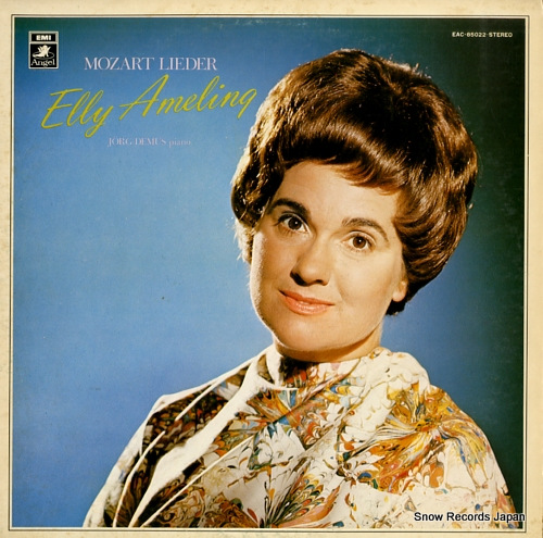 AMELING, ELLY mozart; lieder EAC-85022 - front cover