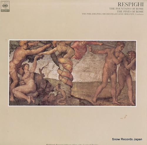 ORMANDY, EUGENE respighi; the fountains of rome FCCA456 - front cover