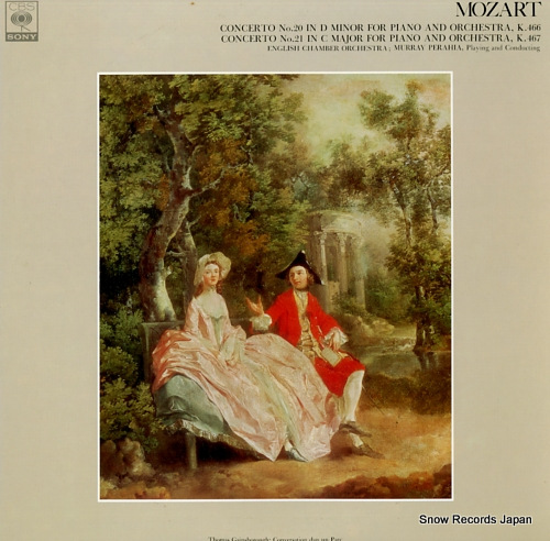 PERAHIA, MURRAY mozart; concerto no.20 in d minor for piano and orchestra, k.466 FCCA463 - front cover