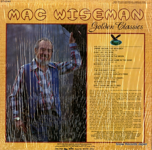 WISEMAN, MAC golden classics GT-0049 - back cover