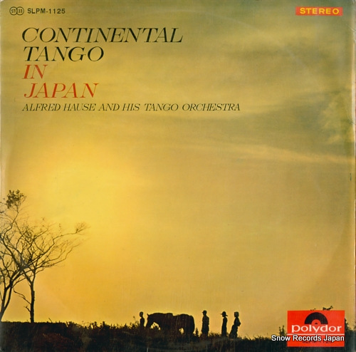 HAUSE, ALFRED continental tango in japan SLPM1125 - back cover