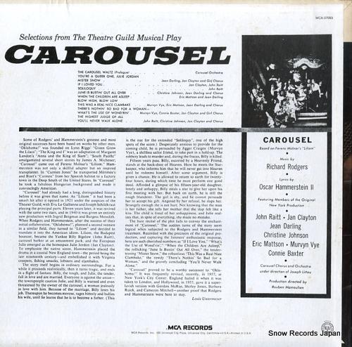 RAITT, JOHN, AND JAN CLAYTON carousel MCA-37093 - back cover
