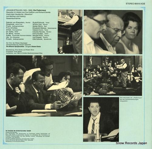 STOLZ, ROBERT strauss; die fledermaus 88610XDE - back cover