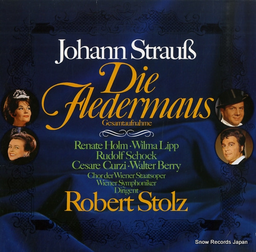 STOLZ, ROBERT strauss; die fledermaus 88610XDE - front cover