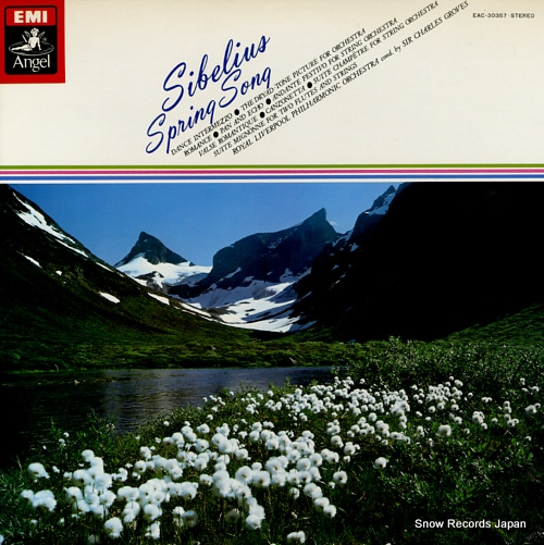 GROVES, CHARLES sibelius; spring song EAC-30357 - front cover