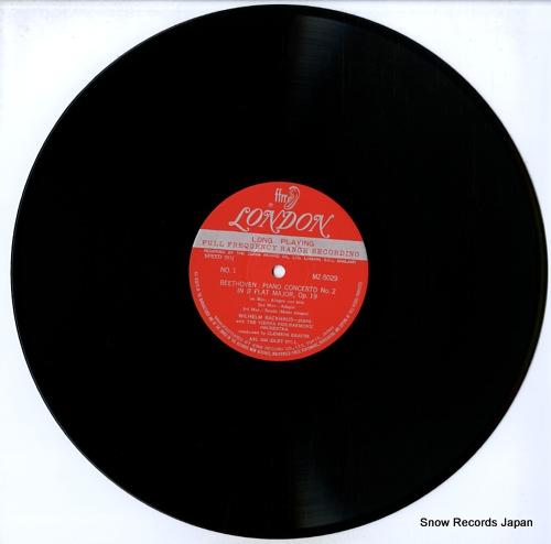 BACKHAUS, WILHELM beethoven; piano concerto no.2 in b flat major MZ5029 - disc