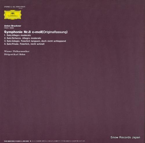 BOHM, KARL bruckner; symphonie nr.8 40MG0585/6 - back cover