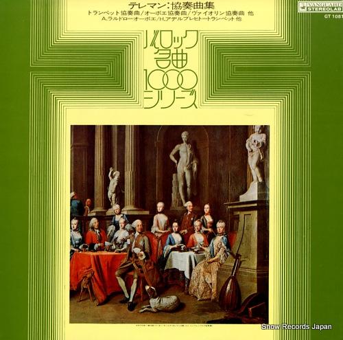 ADELBRECHT, HENRI telemann; concertos GT1081 - front cover