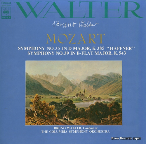 WALTER, BRUNO mozart; symphony no.35 in d major, k.385