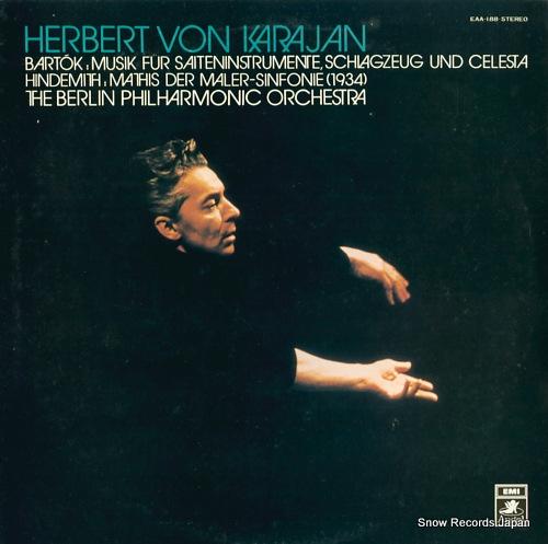 KARAJAN, HERBERT VON bartok; musik fur saiteninstrumente, schlagzeug und celesta EAA-188 - front cover
