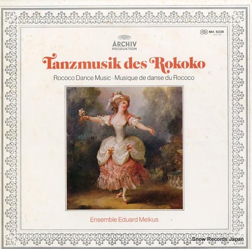 ENSEMBLE EDUARD MELKUS rococo dance music MA5038 - front cover