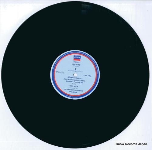 MEHTA, ZUBIN r.strauss; also sprach zarathustra L18C5002 - disc