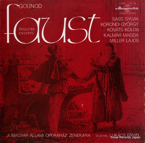 LUKACS, ERVIN gounod; faust -reszletek SLPX11712 - front cover