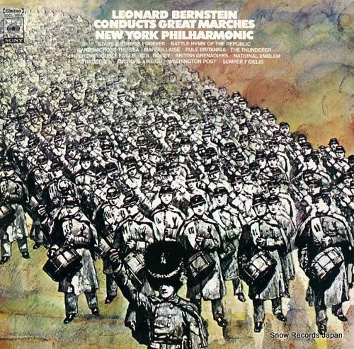 BERNSTEIN, LEONARD leonard bernstein conducts great marches SOCL1091 - front cover