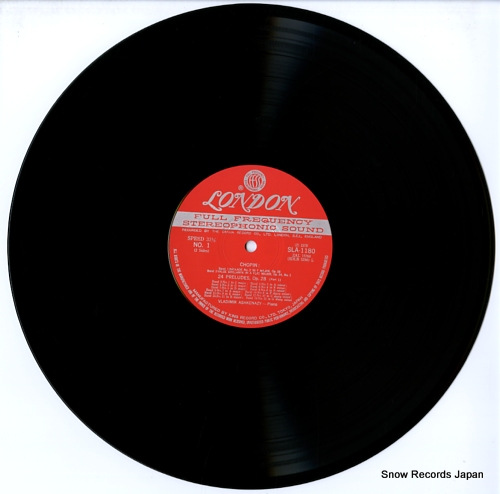 ASHKENAZY, VLADIMIR chopin; 24 preludes SLA1180 - disc