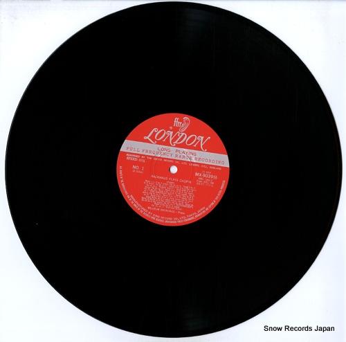 BACKHAUS, WILHELM backhaus plays chopin MX9039M - disc