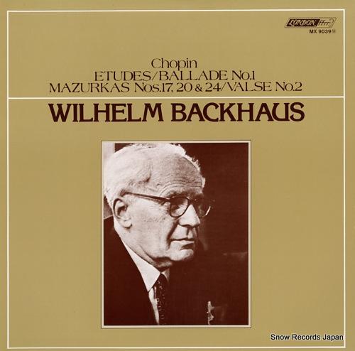 BACKHAUS, WILHELM backhaus plays chopin MX9039M - front cover