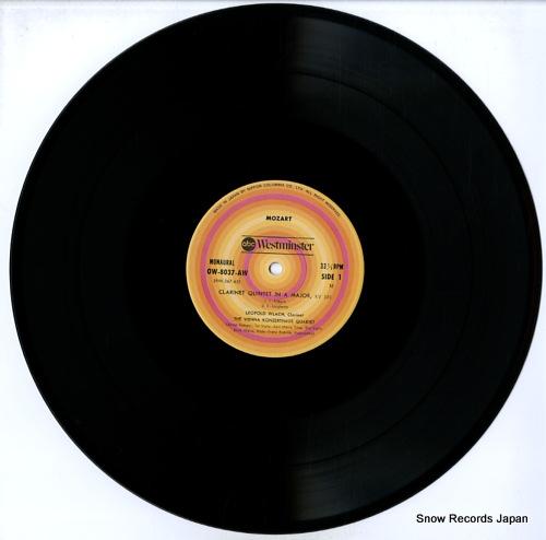 WLACH, LEOPOLD mozart; clarinet quintet OW-8037-AW - disc