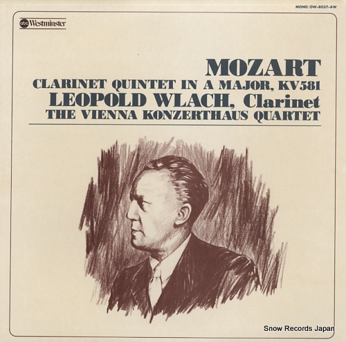 WLACH, LEOPOLD mozart; clarinet quintet OW-8037-AW - front cover