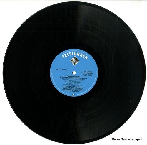 BRUGGEN, FRANS block flotenwerke des barock-2 K15C-9036 - disc