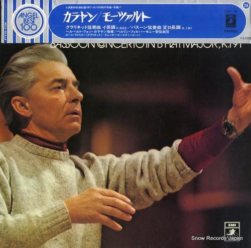 KARAJAN, HERBERT VON mozart; clarinet concerto / bassoon concerto EAA-126 - front cover