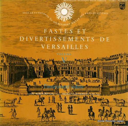 CHARBONNIER, MARCELLE fastes et divertissements de versailles volume v FL-5614 - front cover