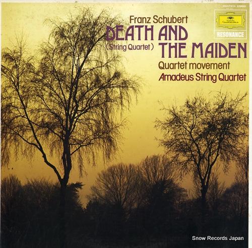 アマデウス弦楽四重奏団 シューベルト:弦楽四重奏曲第14番ニ短調「死と乙女」