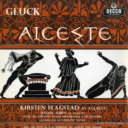 JONES, GERAINT gluck; alceste LXT5276 - front cover