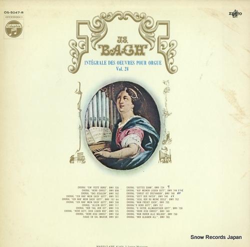 ALAIN, MARIE-CLAIRE bach; integrale des oeuvres pour orgue vol.24 OS-5047-R - front cover
