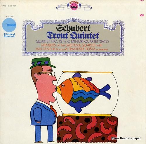 """スメタナ四重奏団 schubert; quintet in a major, op.114 """"trout"""" 22160030"""