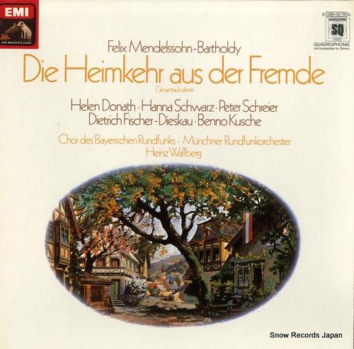 WALLBERG, HEINZ mendelssohn-bartholdy; die heimkehr aus der fremde op.89 1C065-30741Q - front cover
