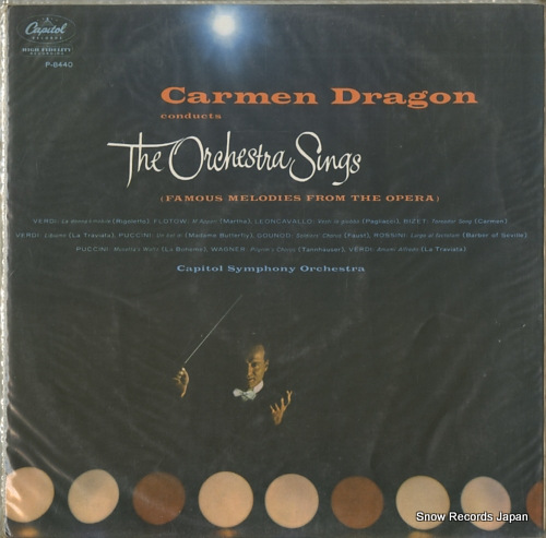 DRAGON, CARMEN carmen dragon conducts the orchestra sings P-8440 - front cover