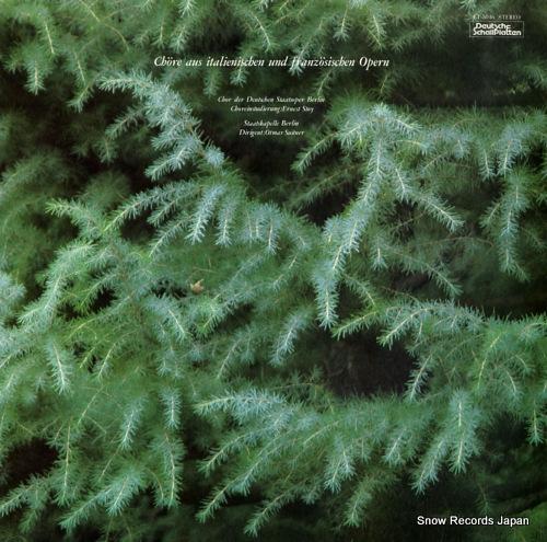 SUITNER, OTMAR chore aus italienischen und franzosischen opern ET-5046 - front cover