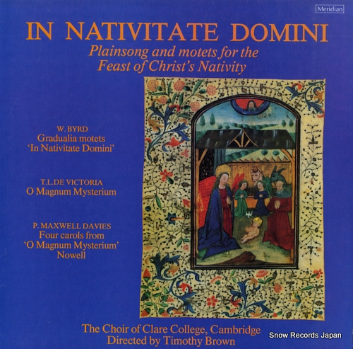 BROWN, TIMOTHY in nativitate domini E77109 - front cover