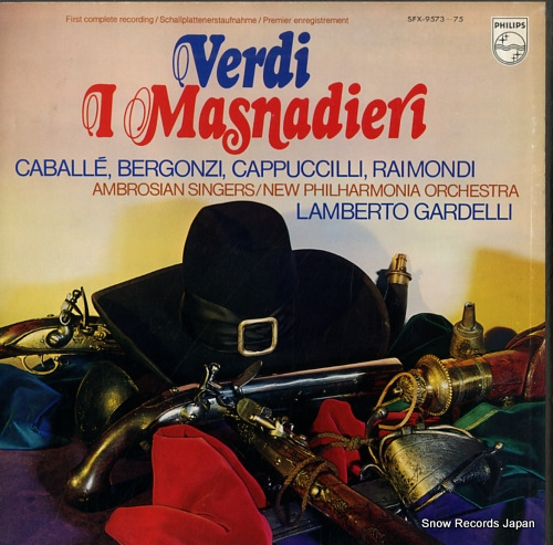 GARDELLI, LAMBERTO verdi; l masnadieri SFX-9573-75 - front cover