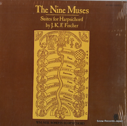 ROBERTS, NEIL the nine muses - suites for harpsichord KS-506 - front cover