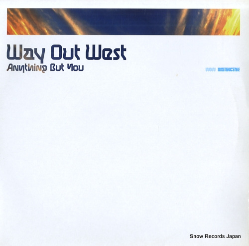 WAY OUT WEST anything but you DISNT131 - front cover
