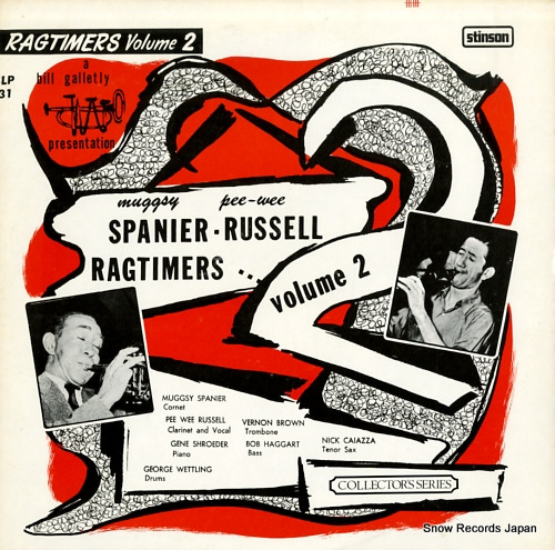 SPANIER, MUGGSY muggsy spanier - pee wee russell ragtimers, vol.2 SLP31 - front cover