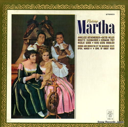 HEGER, ROBERT flotow; martha AA-9571-72 - front cover