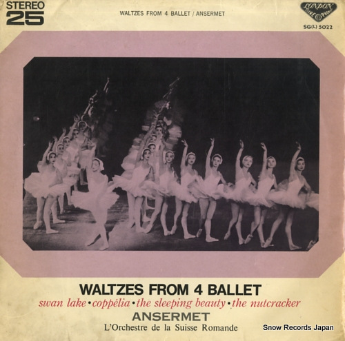 エルネスト・アンセルメ 四大バレエ円舞曲集 SG(L)5022  ANSERMET, ERNEST waltzes from 4 ballet