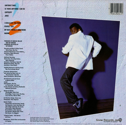 MILLER, MARCUS marcus miller 925074-1 - back cover