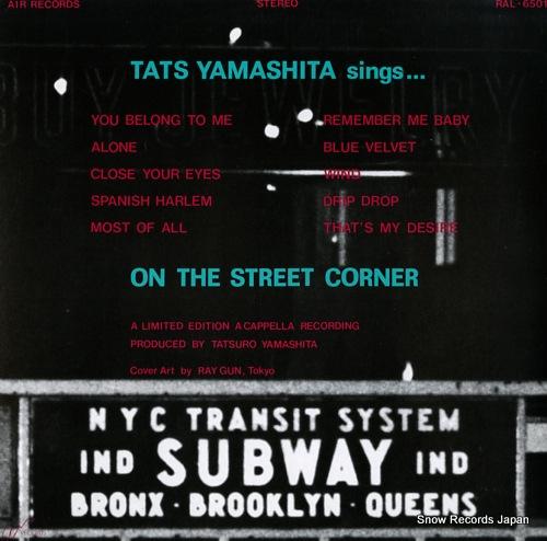 YAMASHITA, TATSURO on the street corner RAL-6501 - back cover