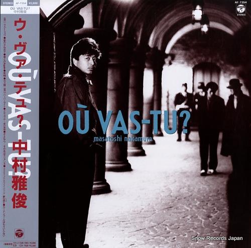 NAKAMURA, MASATOSHI ou vas-tu ? AF-7354 - front cover