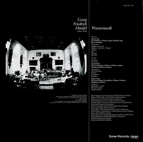 COLLEGIUM AUREUM handel; wassermusik ULS-3111-H - back cover