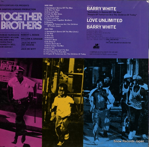 WHITE, BARRY together brothers GP340 - back cover